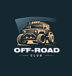 Off road car logo vector