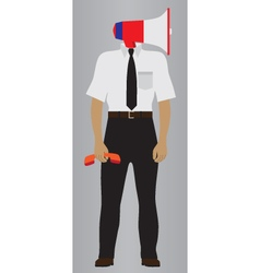 Person with the megaphone support service icon vector