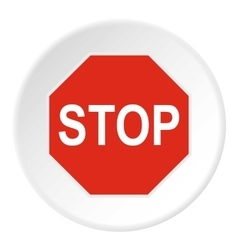 Stop sign icon flat style vector image