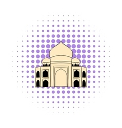 Taj mahal india icon comics style vector