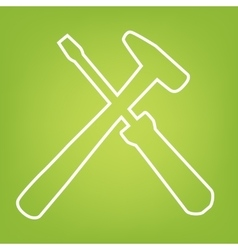 Tool line icon vector