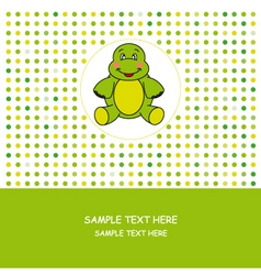 turtle card vector image vector image