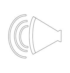 volume of sound speaker louder amplifier vector image vector image