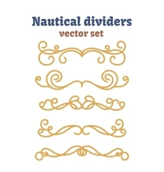 Dividers set nautical ropes decorative vector