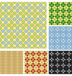 set of colored patterns for background vector image