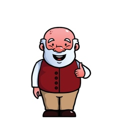 Old man giving thumbs up vector
