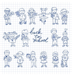 Set of carton doodle kids vector