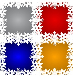 Set of christmas backgrounds vector