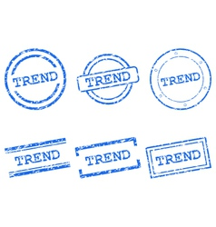 Trend stamps vector image
