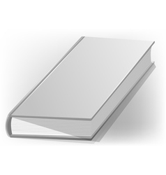Hardback book white vector