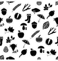 doodle autumn seamless pattern vector image