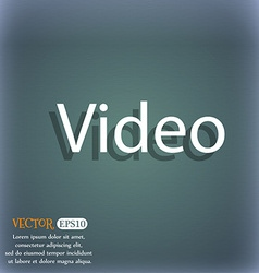 Play video sign icon player navigation symbol on vector