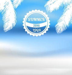 Tropical summer beach background vector