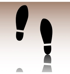 Imprint soles shoes icon vector