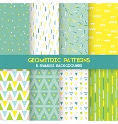 8 seamless geometric patterns vector