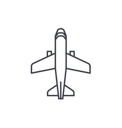 Airplane boeing plane travel thin line icon vector
