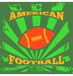American football rugby poster vector