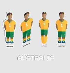 Australia soccer team sportswear template vector