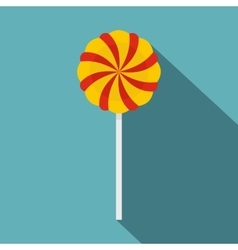 Candy stick icon flat style vector image