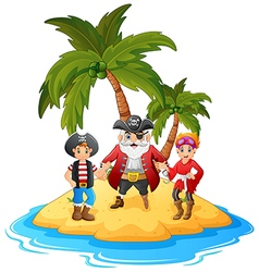 cartoon pirate in the island vector image vector image