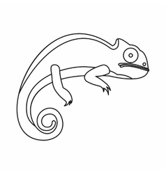 Chameleon icon outline style vector
