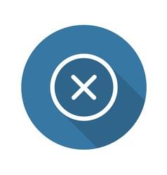 Close icon delete button vector