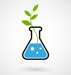 Flask with GMO sprout vector image vector image