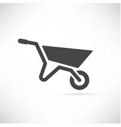 garden cart vector image vector image