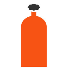 Gas cylinder flat icon vector
