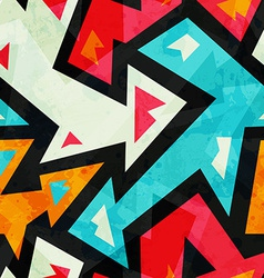 graffiti arrows seamless pattern with grunge vector image vector image