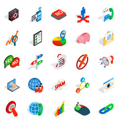Help business icons set isometric style vector