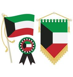 kuwait flags vector image vector image