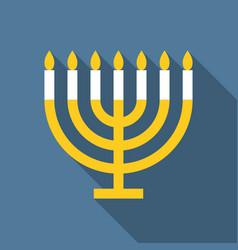 Menorah for hanukkah vector