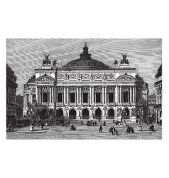 Opera house in paris france vintage engraving vector