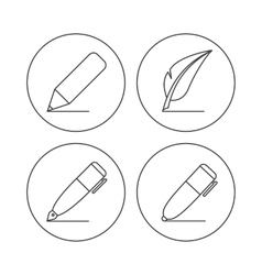pencil icons vector image vector image