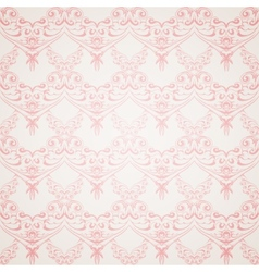 Pink victorian style vector