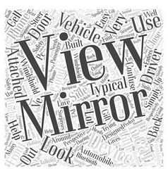 Rear view mirror word cloud concept vector
