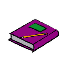 School book pencil equipment study icon vector