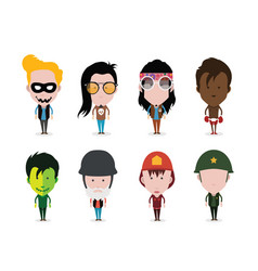 Set of figure avatars vector