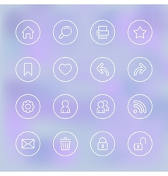 Set of icons for mobile app ui transparent clear vector