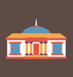 Silhouette of the government building on vector