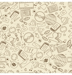 Social media seamless retro vector image vector image