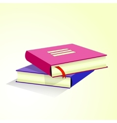 Stack of multicolored books vector image