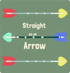 Straight as an arrow vector
