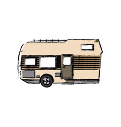 Trailer camping transport recreation tourism vector