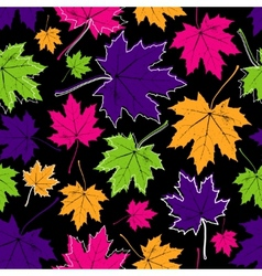 vintage floral autumn fall seamless pattern with vector image