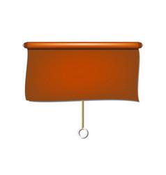 Vintage window sun blind cloth in brown design vector