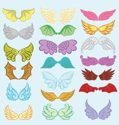 Wings Cute Collection Part II vector image vector image