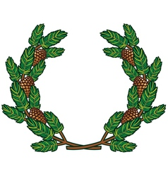wreath of pine branches vector image vector image
