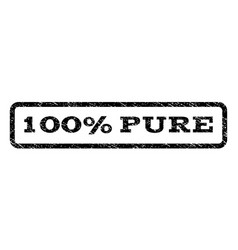 100 percent pure watermark stamp vector